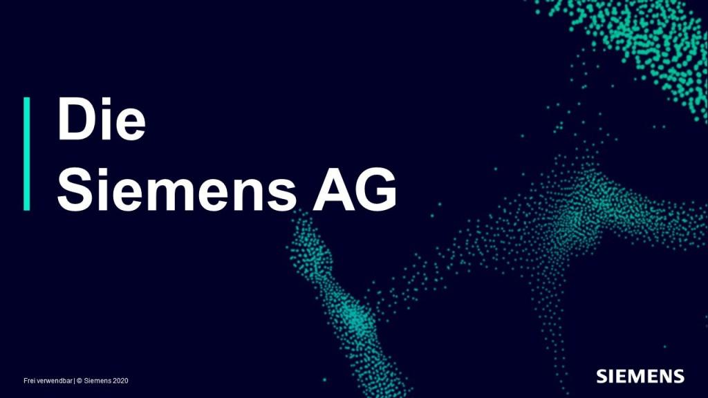 Siemens Unternehmenspraesentation