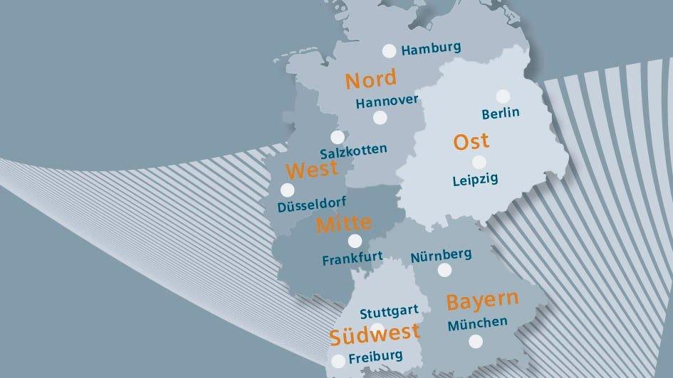 Standortübersicht in Deutschland