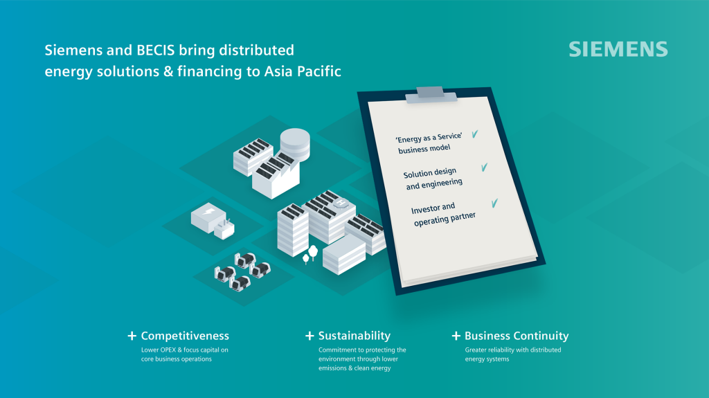 Siemens partners with BECIS to accelerate deployment of distributed energy in Asia Pacific