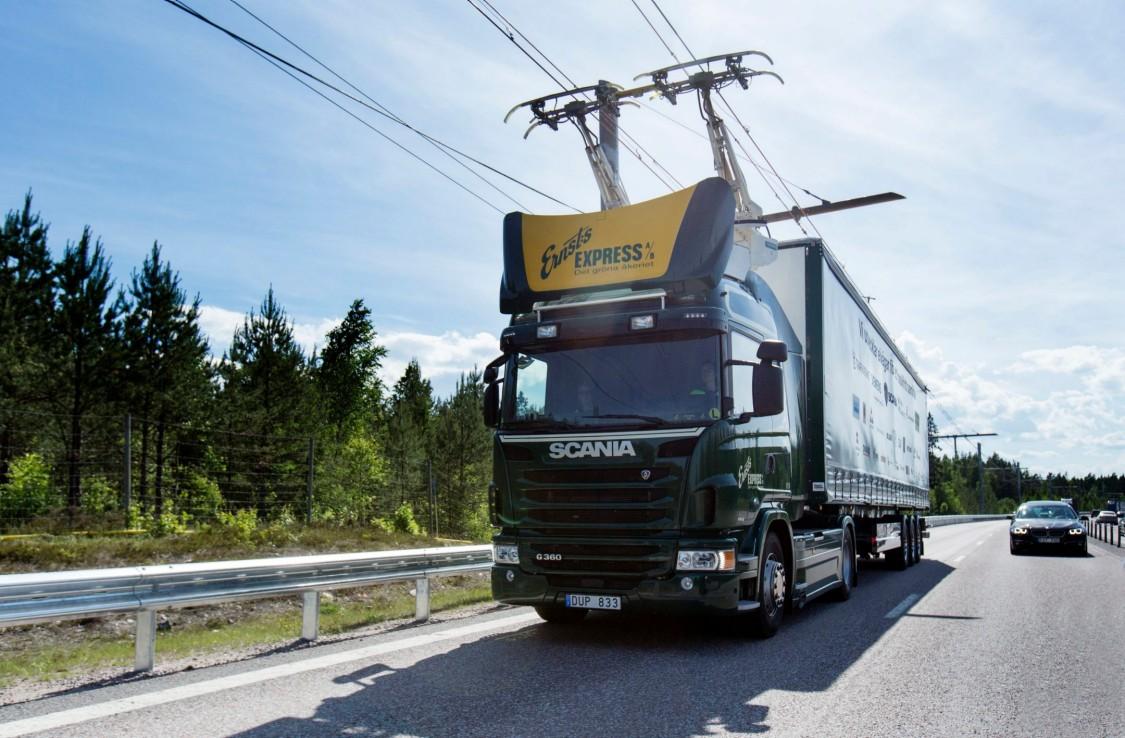 Elektrifikovaná dálnice v Německu