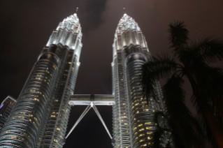 Ausblick auf die Petronas Türme in der Nacht
