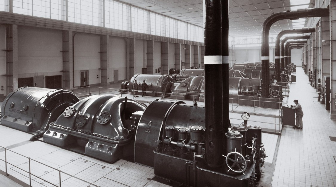 Машинный зал электростанции «Крафтверк Вест», Берлин, 1931 год