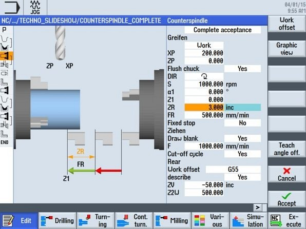 CNC4you Counterspindle cycle