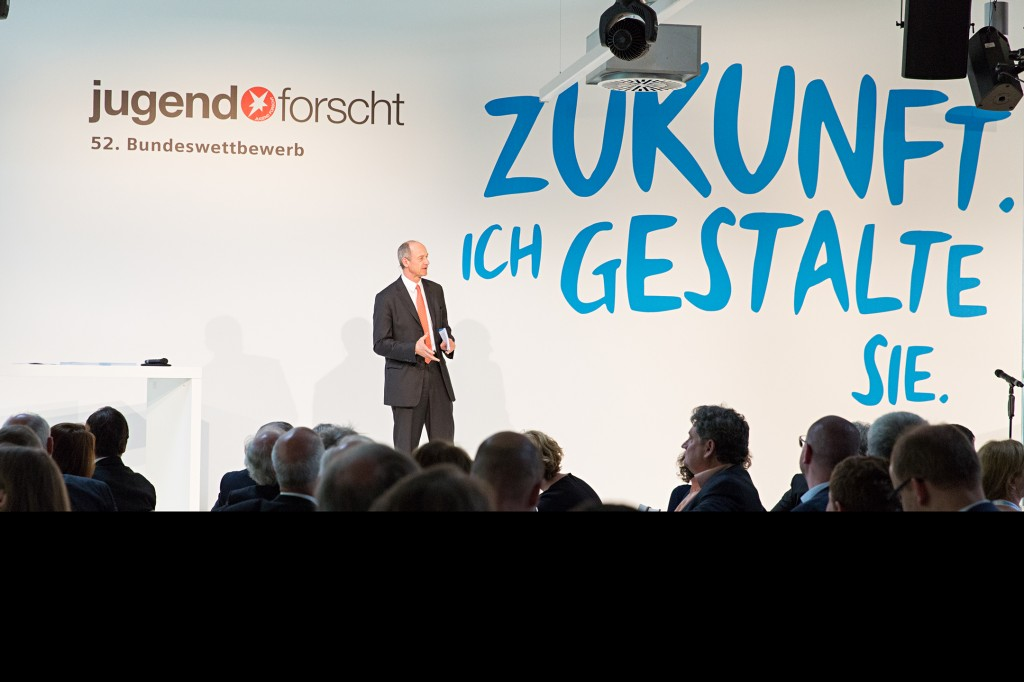 Special award ceremony of the 52nd Federal Contest Jugend forscht at Siemens