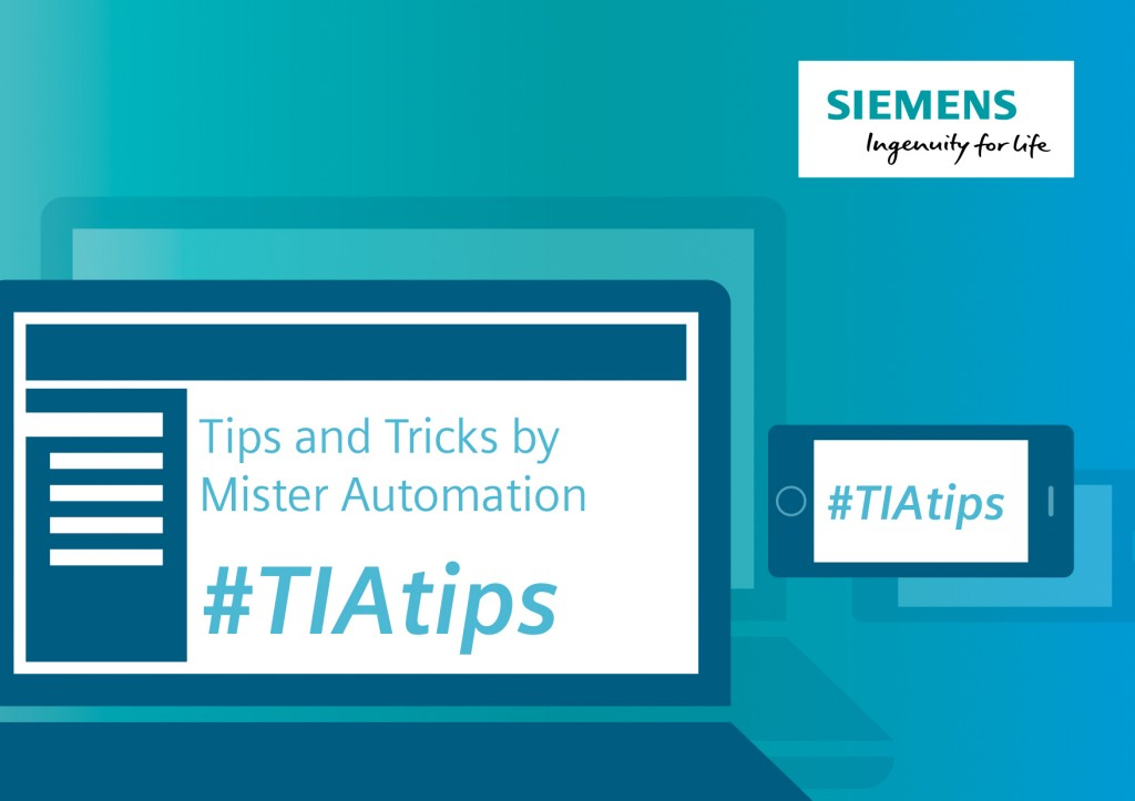 Tips and tricks by Mister Automation - New video series with regular tips and tricks for efficient engineering in the TIA Portal