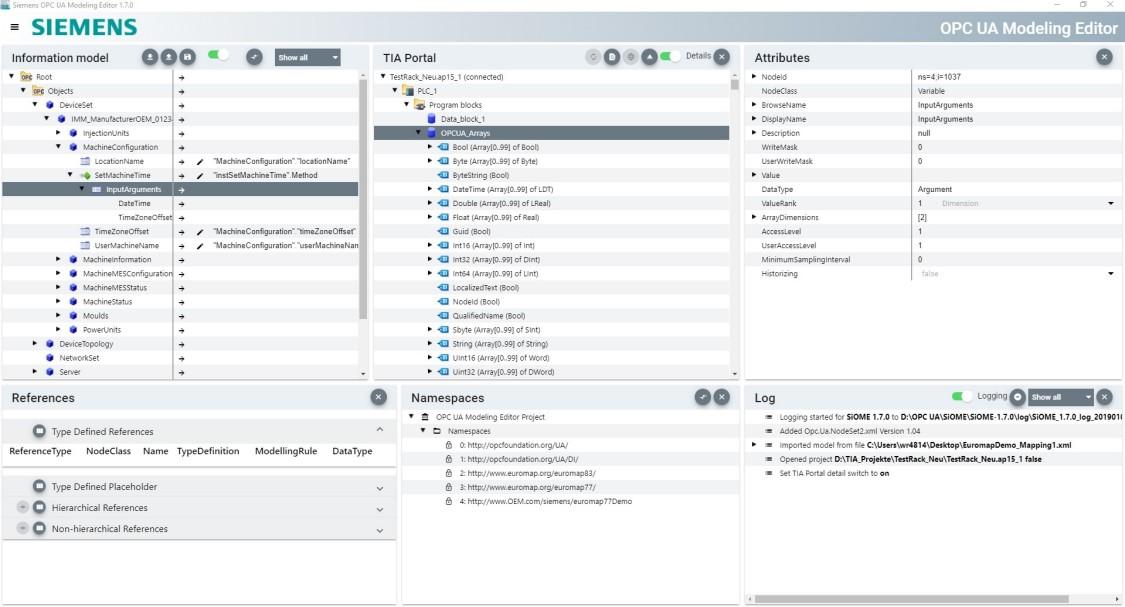 """Pomocí bezplatného nástroje """"Siemens OPC UA Modeling Editor"""" můžete snadno implementovat specifikace OPC UA."""