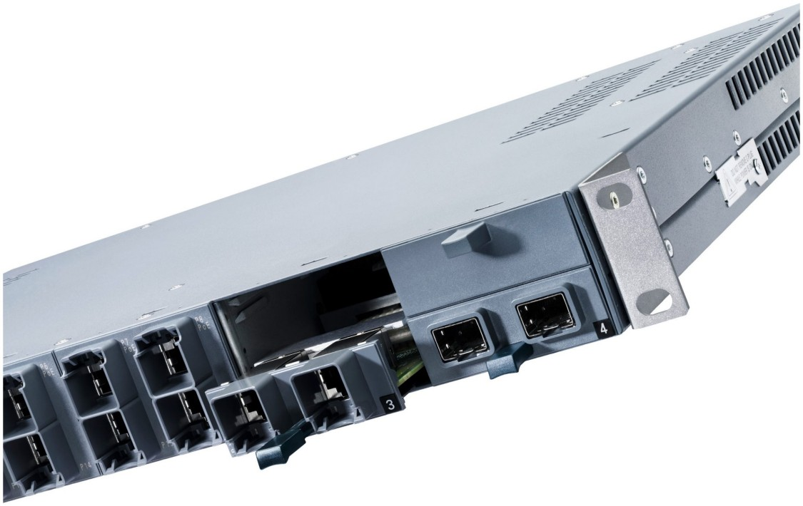 Detailed view of a SCALANCE X-300 switch