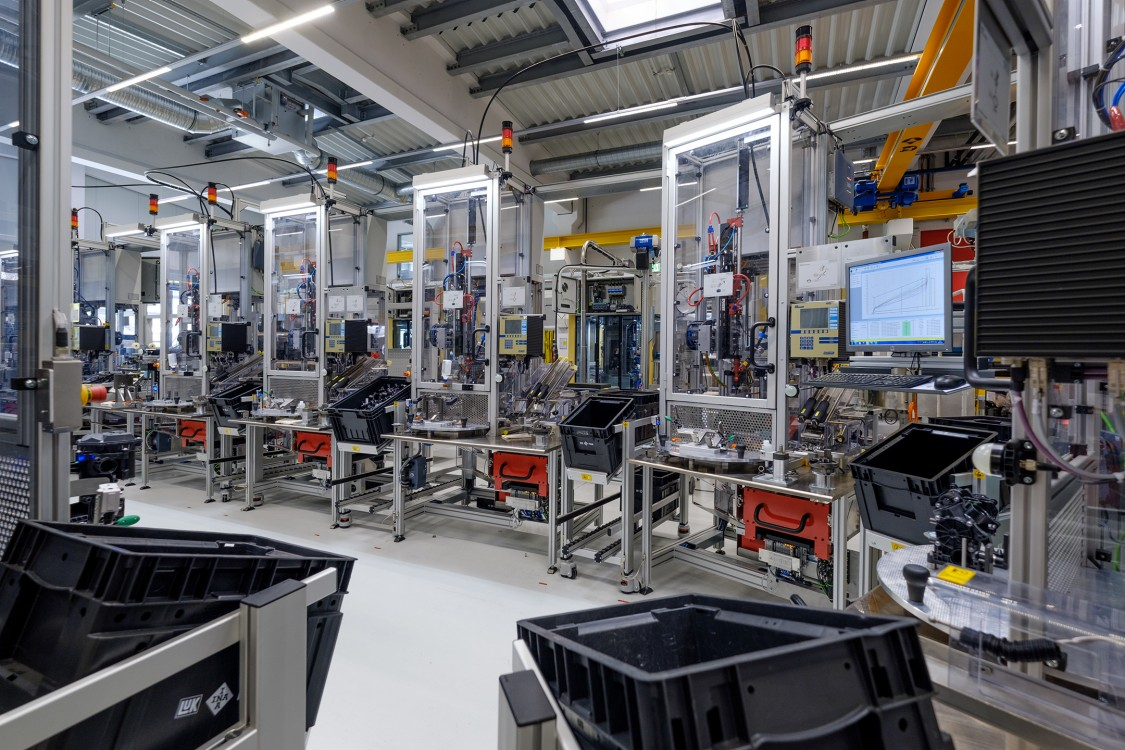 Picture of special machinery manufacturing at Schaeffler in Schweinfurt, Germany.