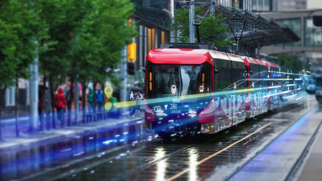 Ca mobility calgary transit train rainy day