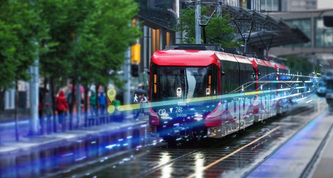 Ca mobility calgary transit train rainy day