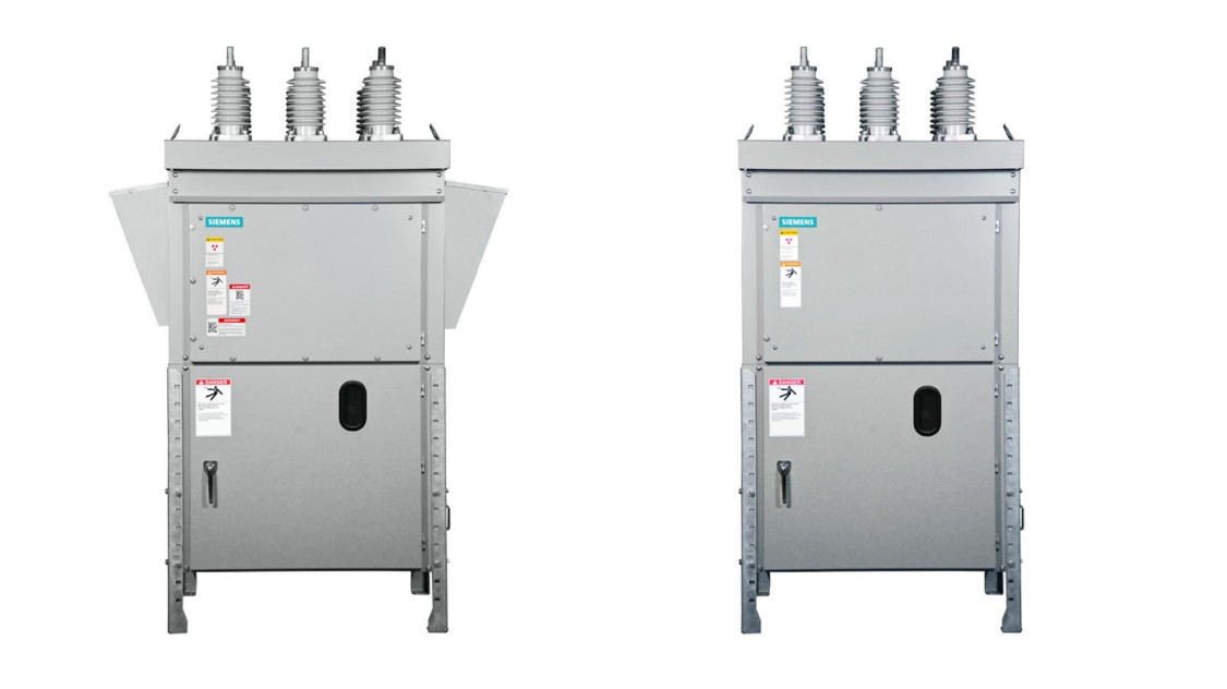 Outdoor arc-resistant type SDV7-AR and non-arc-resistant type SDV7 15.5 kV-38 kV circuit breakers