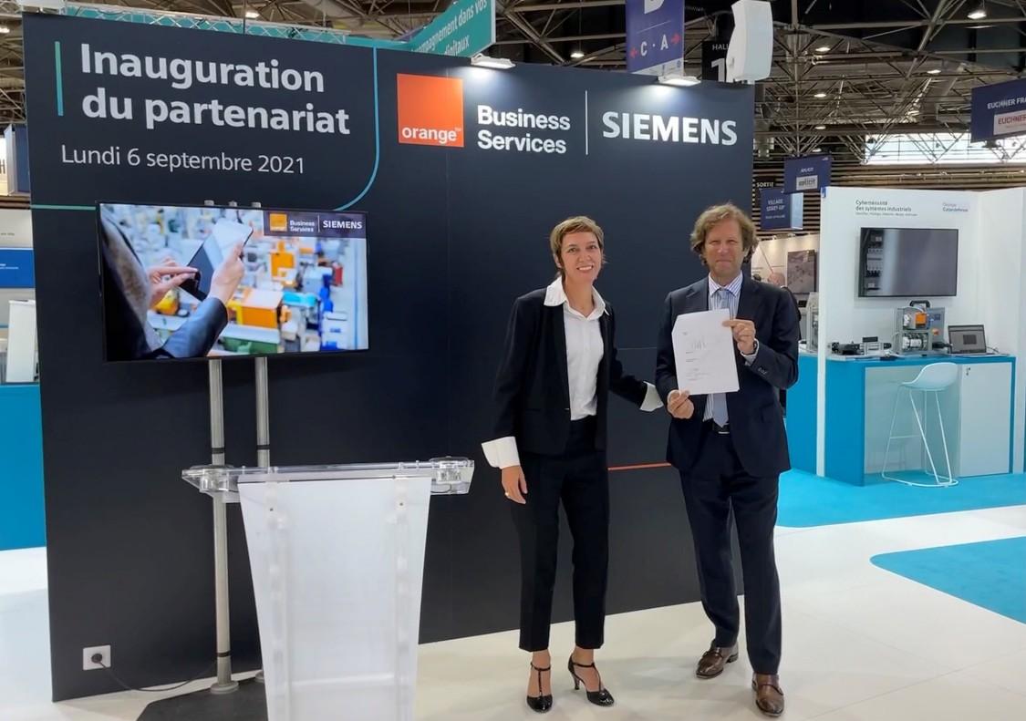 annonce partenariat Siemens France & Orange Business Services