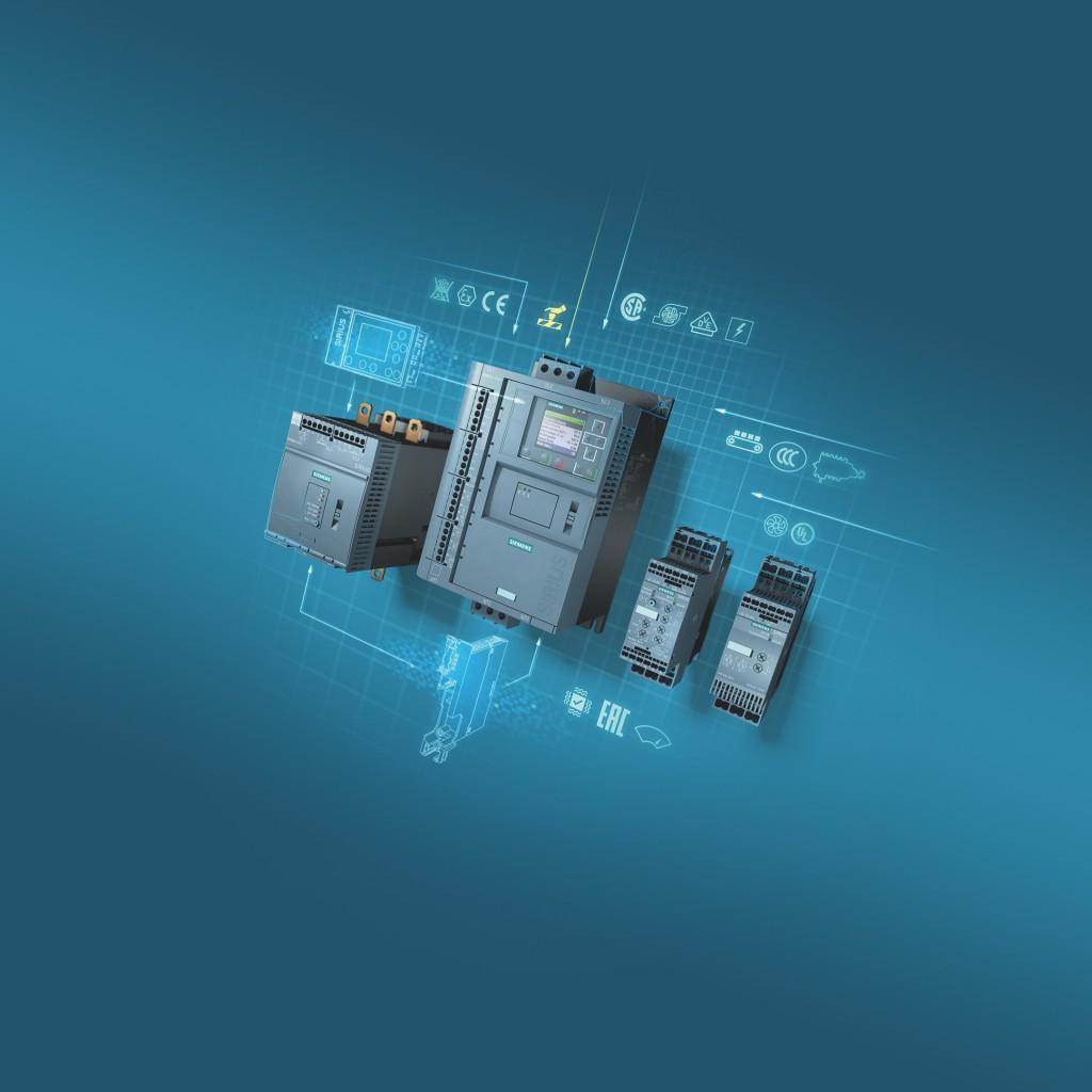 Mit den neuen Sanftstartern Sirius 3RW55 Failsafe und Sirius 3RW50 erweitert Siemens Smart Infrastructure sein Portfolio für sanftes Starten von Motoren.