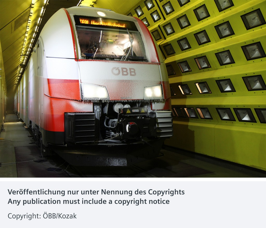 Making ÖBB fit for all climes: Siemens trains tested in Vienna