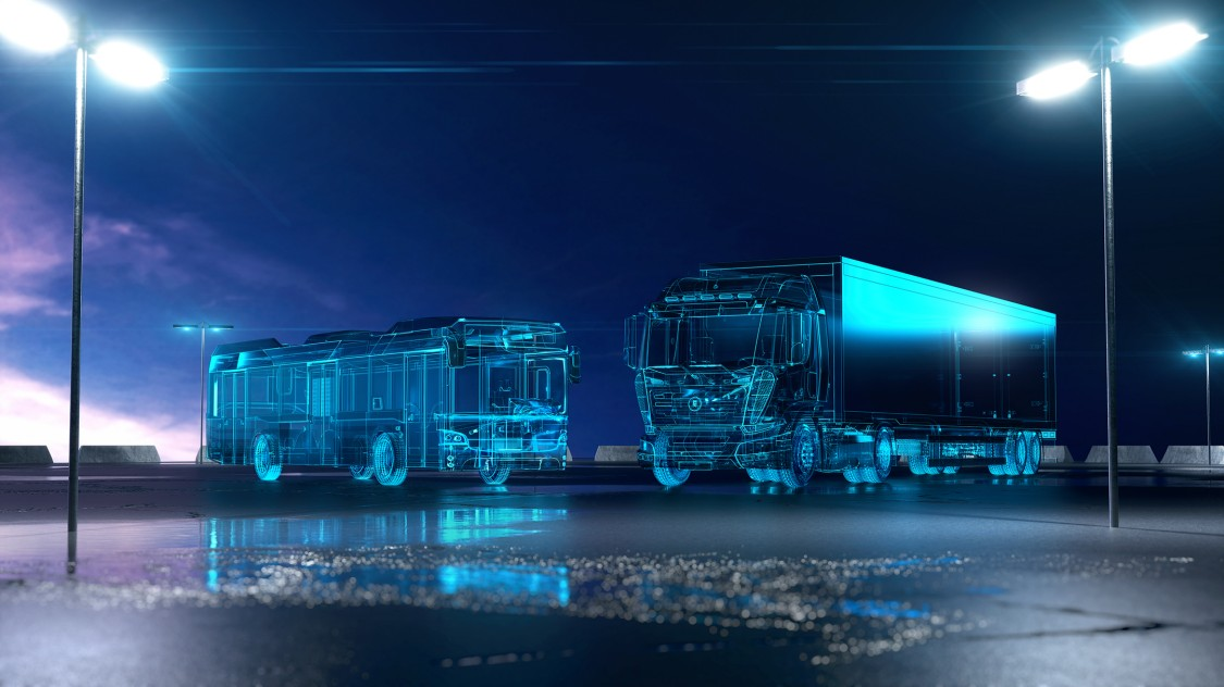 Truck and bus with the ELFA system of Siemens