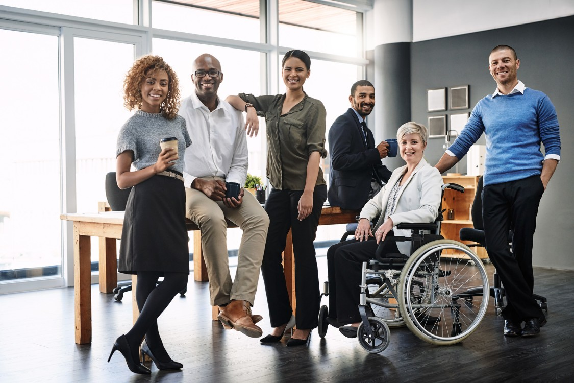 US Siemens Supplier Diversity Program: Portrait of a group of business people in an office