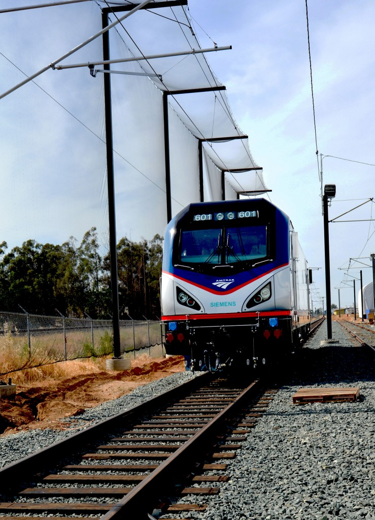 Rollout of first electric locomotive for Amtrak