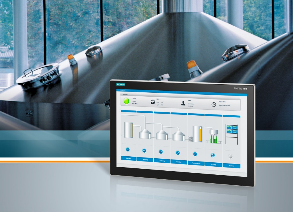 Slimline design with multi-touch, user-friendly operation for industry