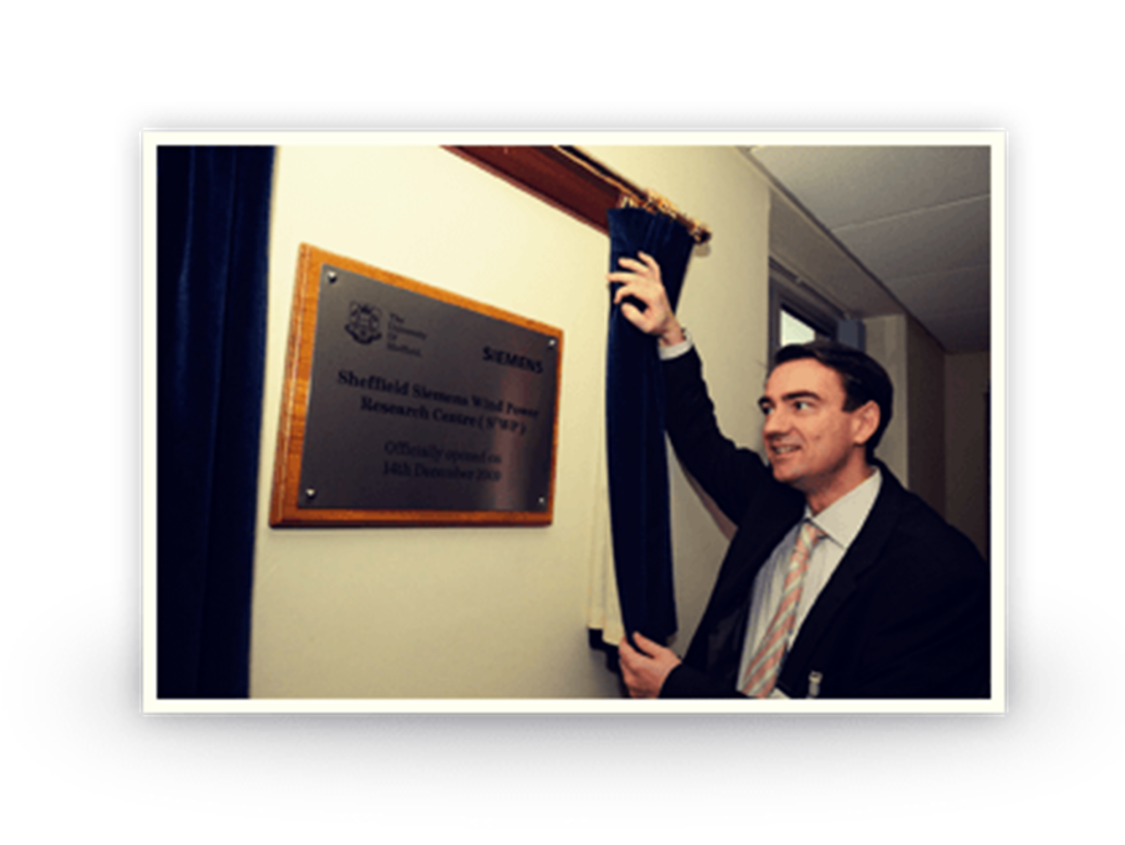 Siemens opened its UK Wind Power Research Centre at the University of Sheffield.