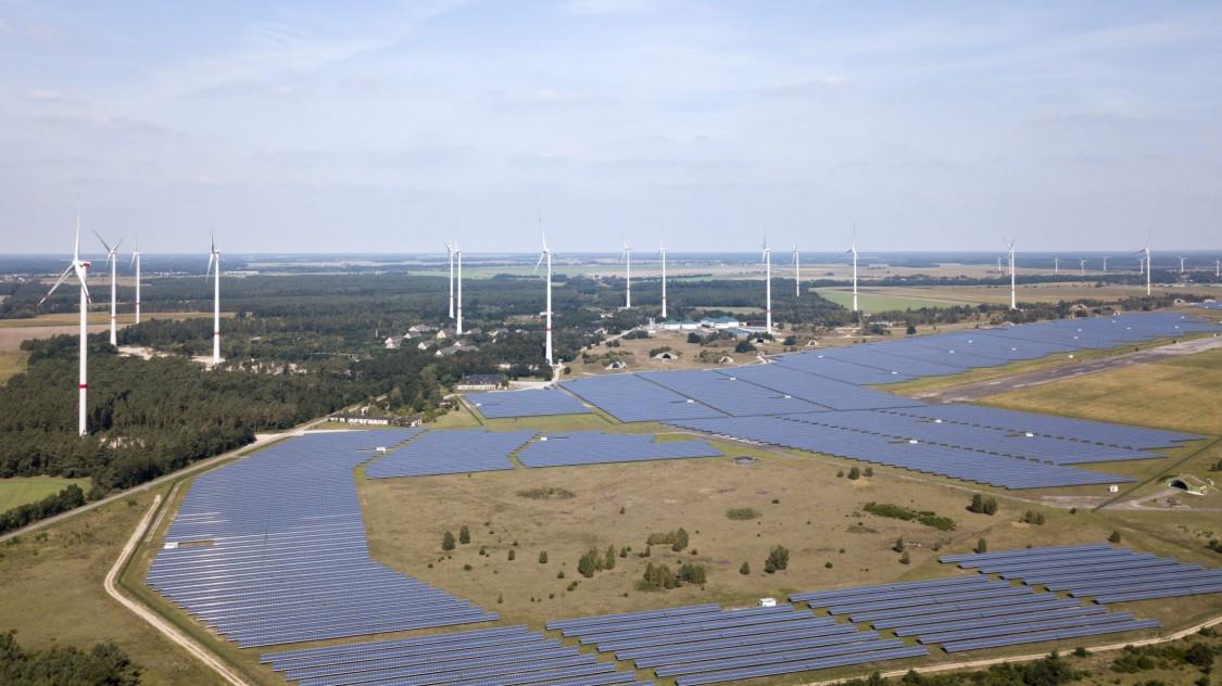 Verschiedene Energieparks in einem System