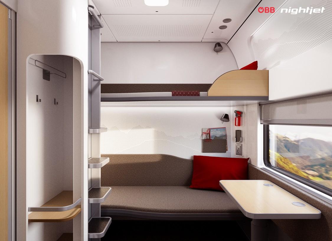 Ein Blick in die neuen Nachtzüge: der Schlafwagen deluxe für zwei Personen