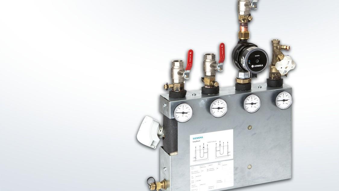 Shuntgrupper, prefabricerade enheter med rör, ventliger och pumpar