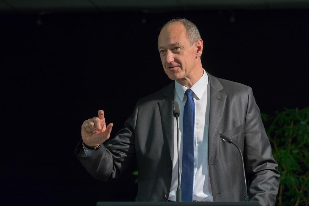 Roland Busch bei der Eröffnung Haus der Energiezukunft Wunsiedel am 5. Februar 2018