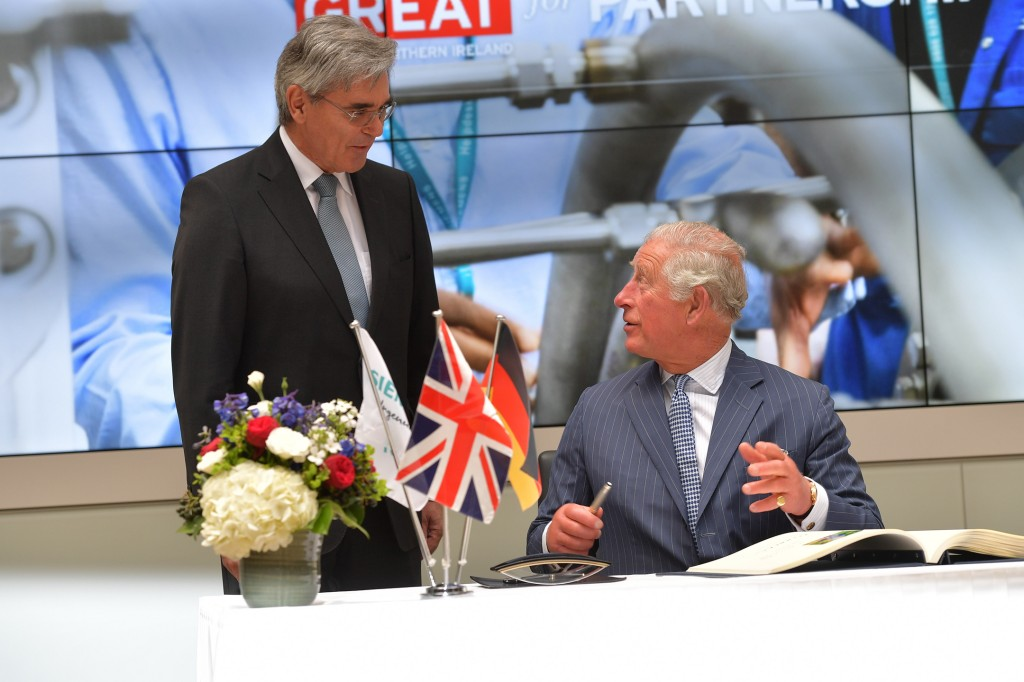 The Prince of Wales visits Siemens headquarters
