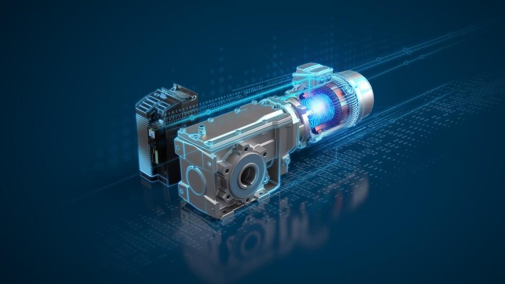 Siemens breidt zijn Simogear-portfolio uit met een nieuw synchroon-reluctantie aandrijfsysteem bestaande uit Simogear standaard overbrenging, Simotics reluctantiemotor en een Sinamics frequentieomvormer om het toerental te regelen.