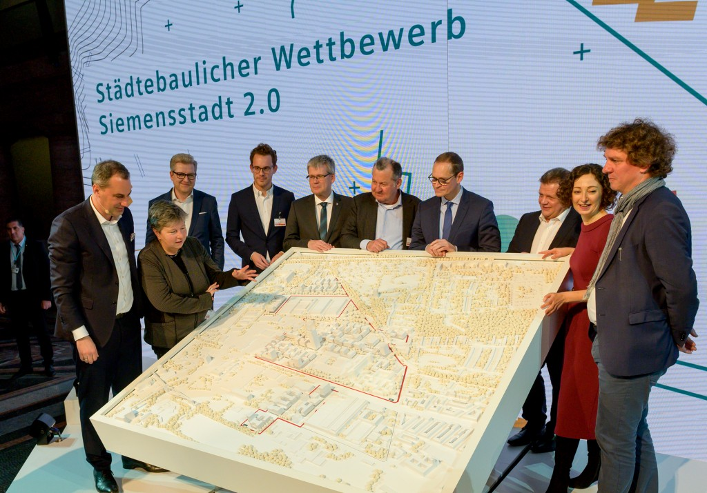 Jury decision on the urban development competition Siemensstadt 2.0