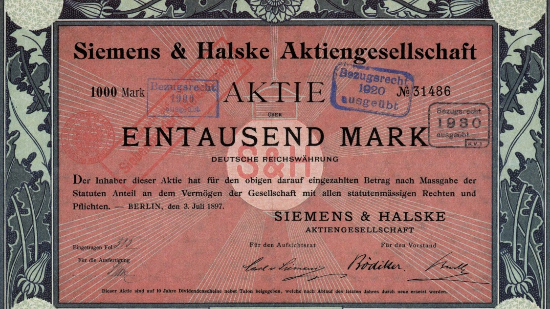 Siemens & Halske share