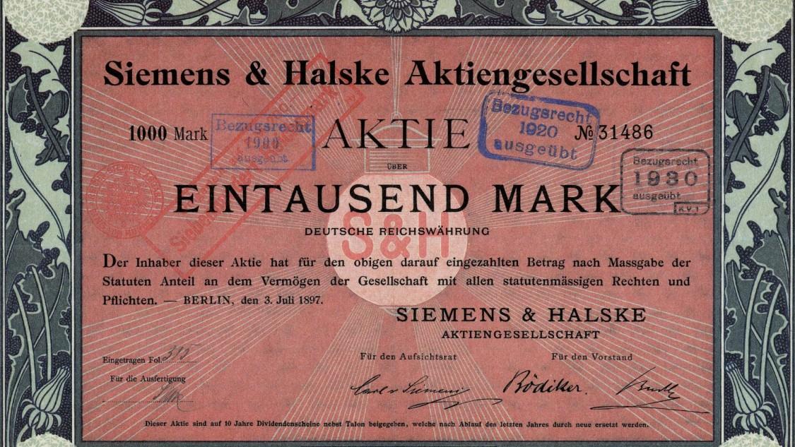 Siemens & Halske Aktie