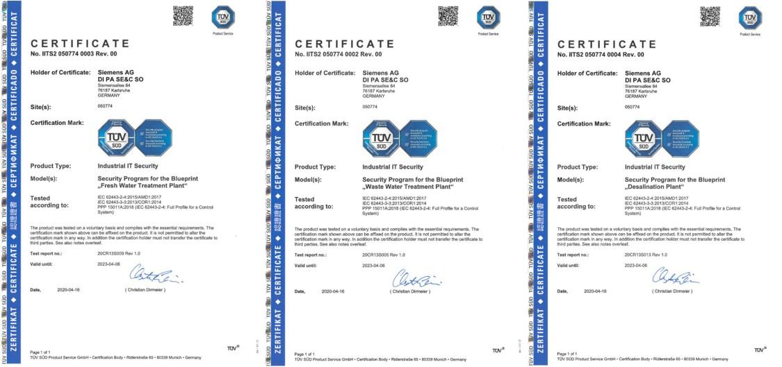 TÜV Zertifikate