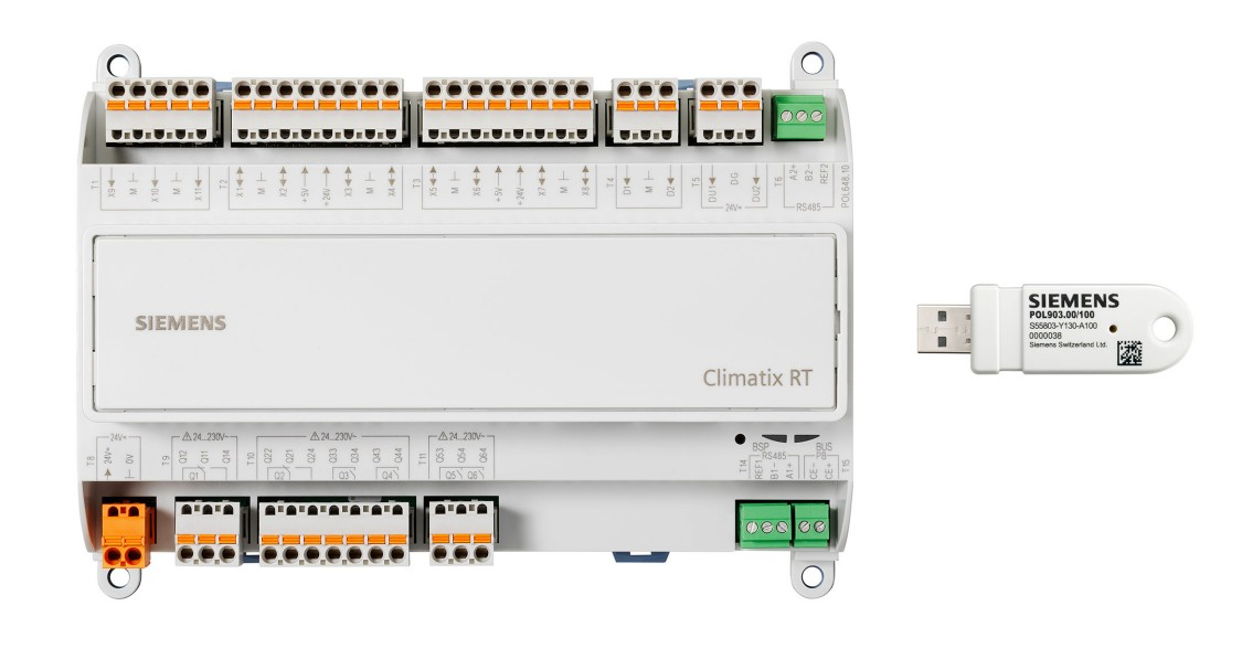 Climatix RT Front + USB925 2 Group