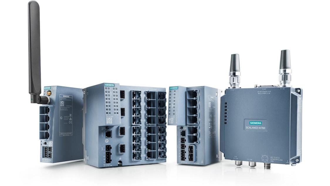 Portfolio produktů síťových komponentů pro komunikaci v průmyslu SCALANCE
