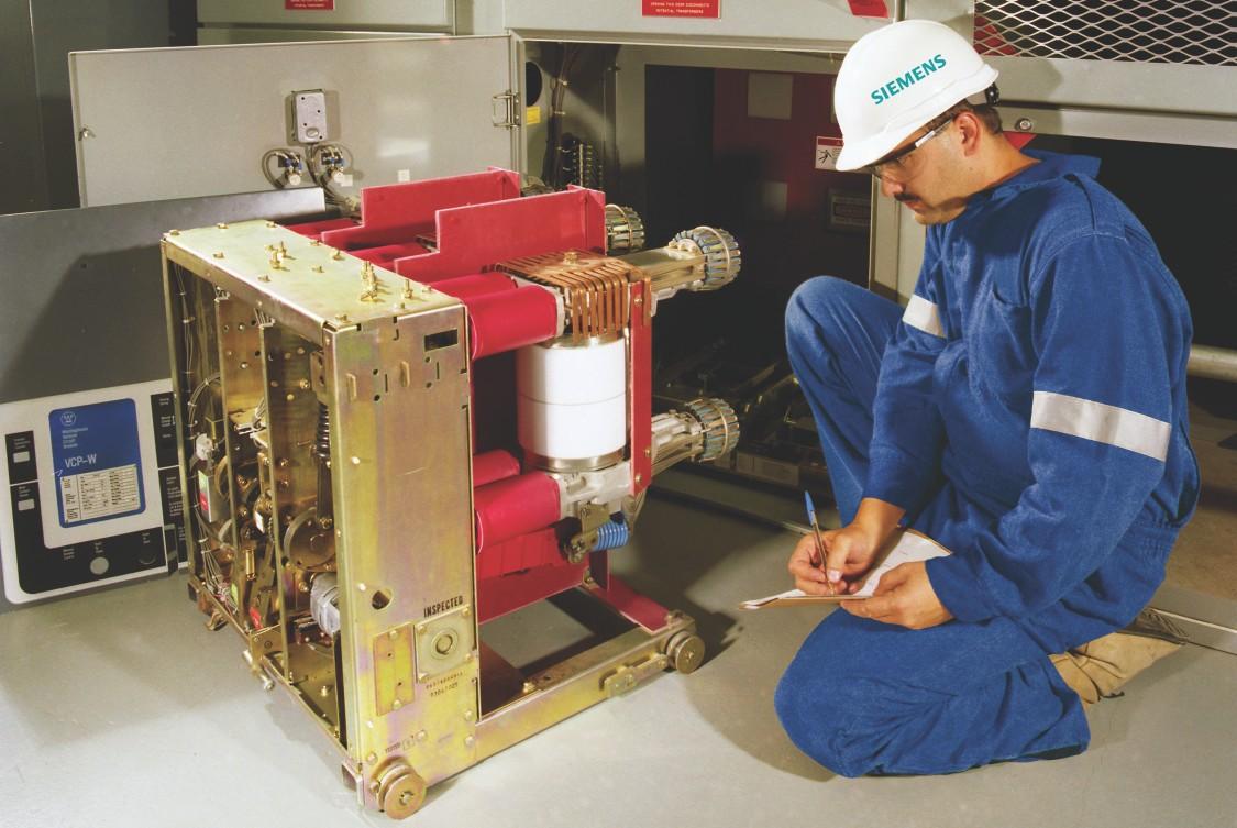 Siemens technician working