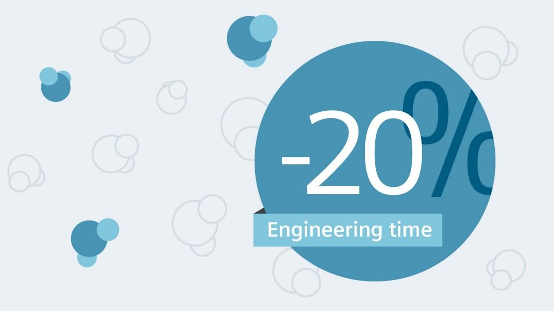 Saving time – 20% shorter engineering time