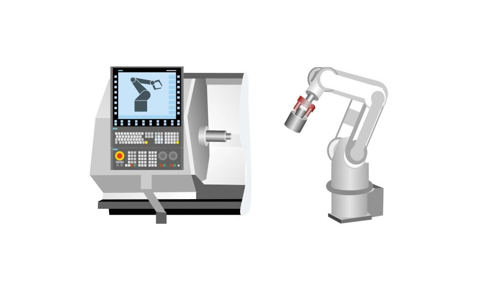 Sinumerik Run MyRobot /Handling allows to operate and teach the robot on the Sinumerik operator panel.