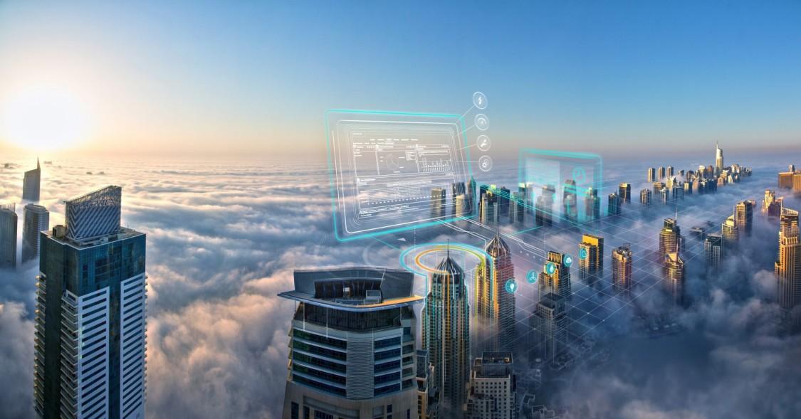 Key Visual zu digitalen Gebäudeleistungsservices