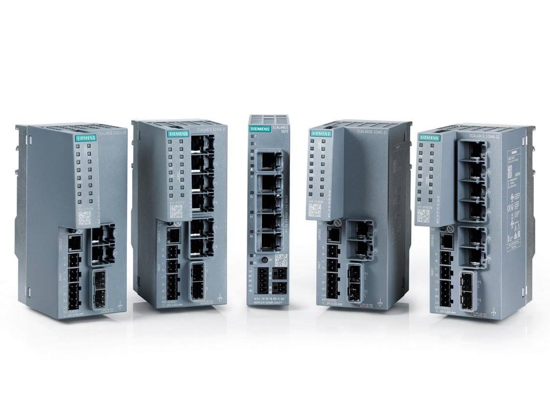 Portfolio průmyslových zařízení s funkcí zabezpečení pomocí firewallu a VPN brány SCALANCE S