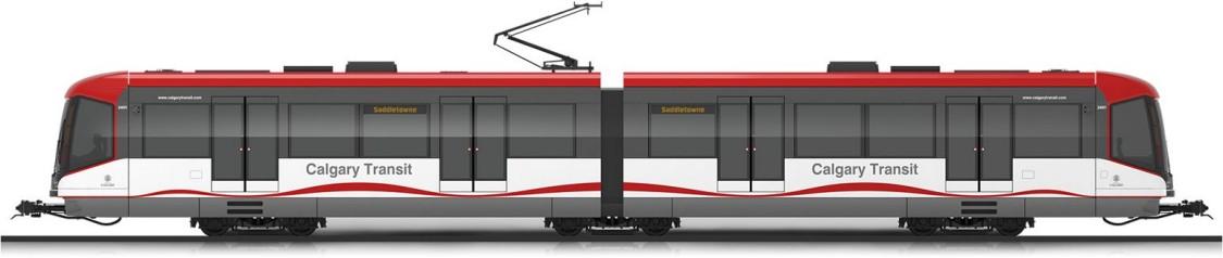 S200 veículo leve sobre trilhos de piso alto – visão lateral
