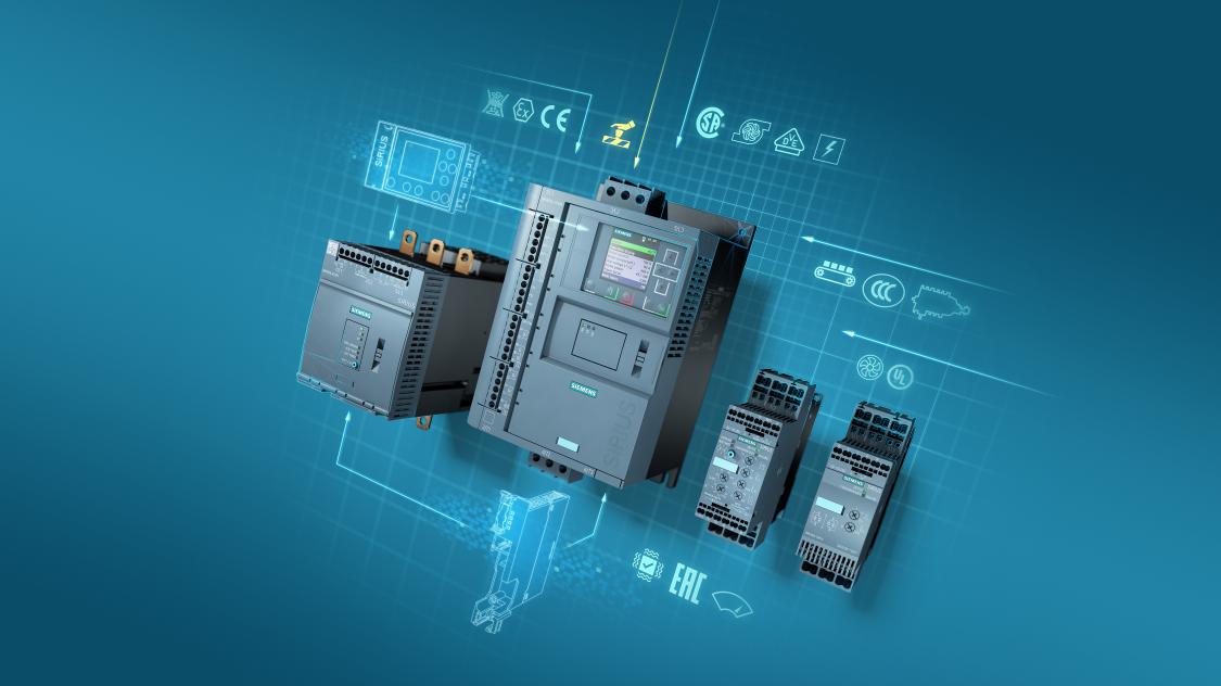 Siemens SIRIUS 3RW5 softstarter portfolio