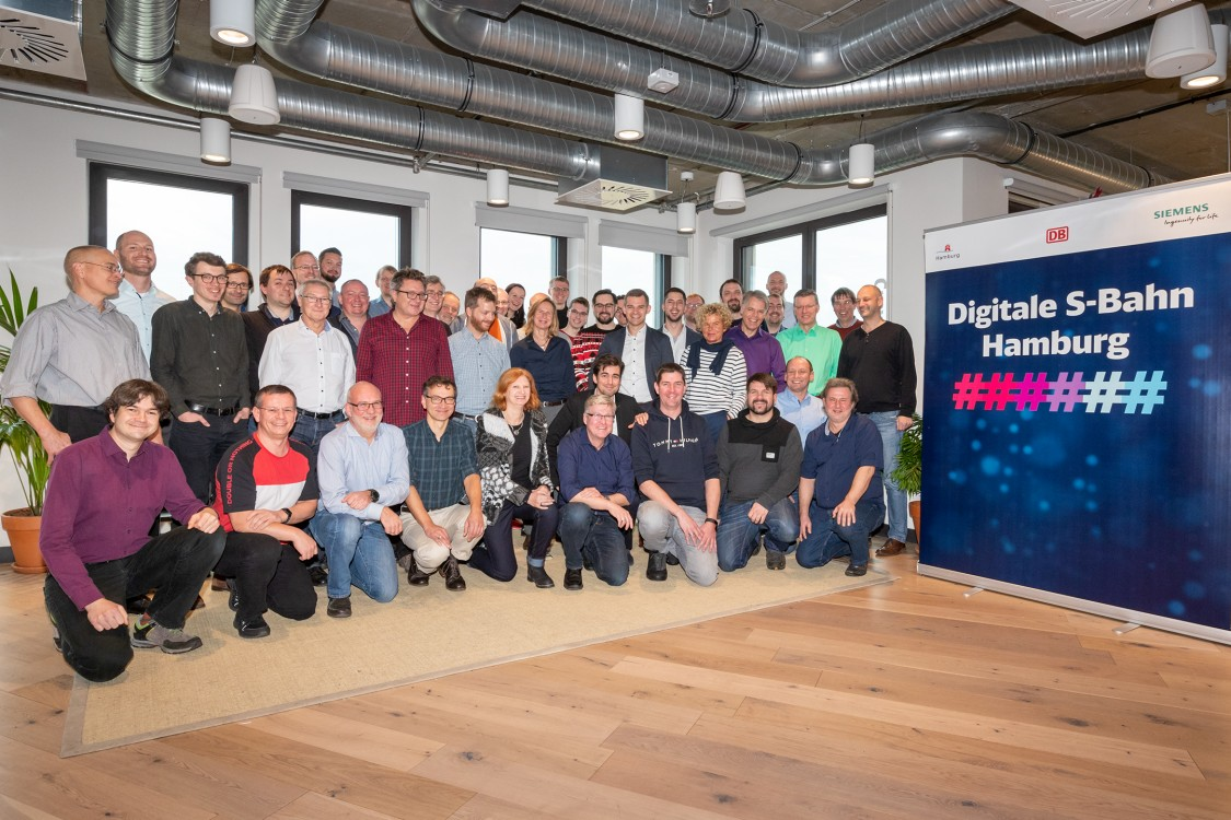 Digital S-Bahn Hamburg project team.