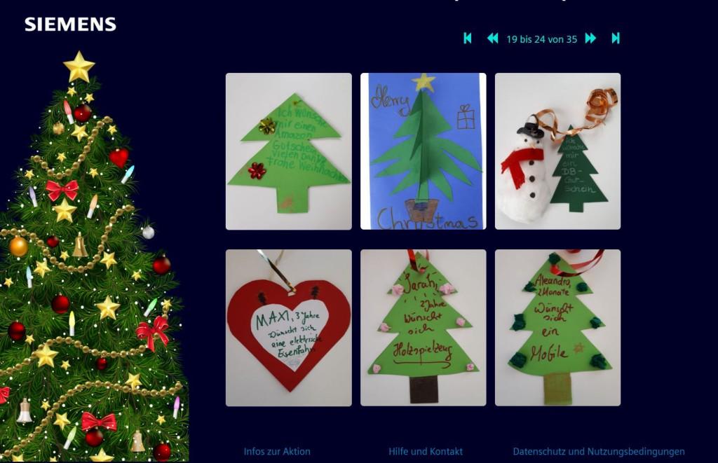 Digitaler Wunschweihnachtsbaum (PM) - Screens