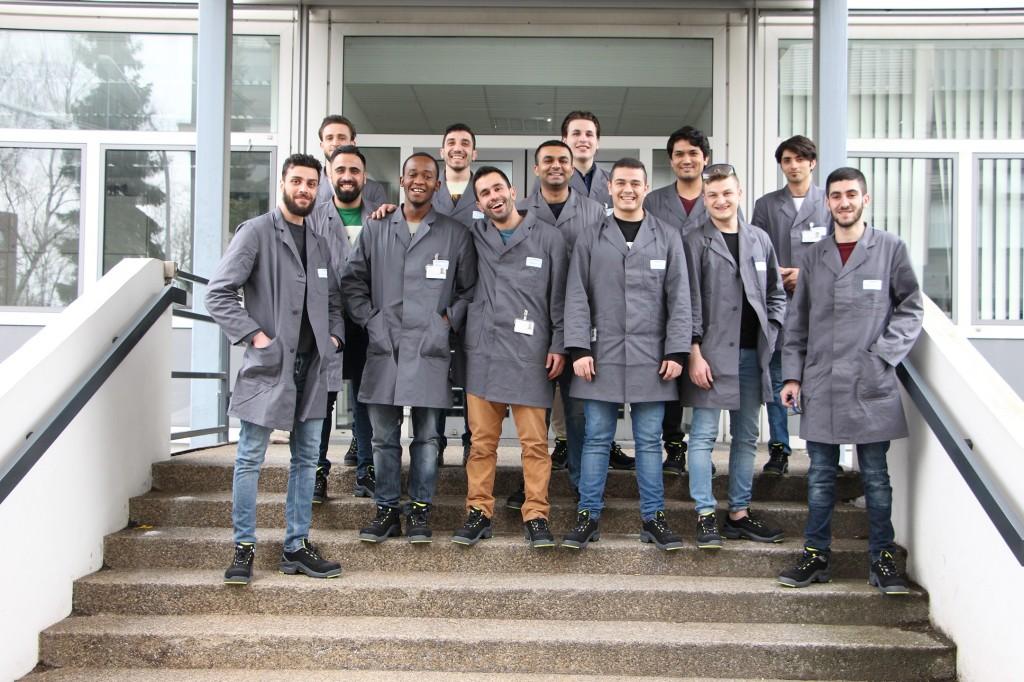 Teilnehmer des Förderprogramms in Karlsruhe auf einem Gruppenbild