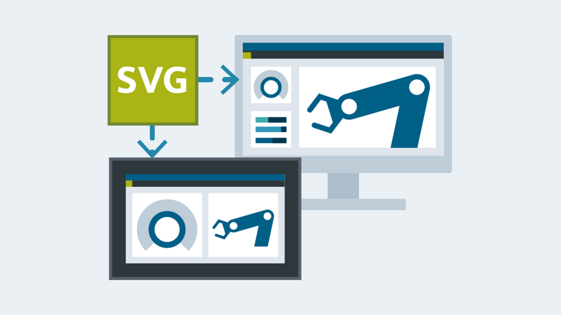 SIMATIC WinCC Unified uses SVG graphics