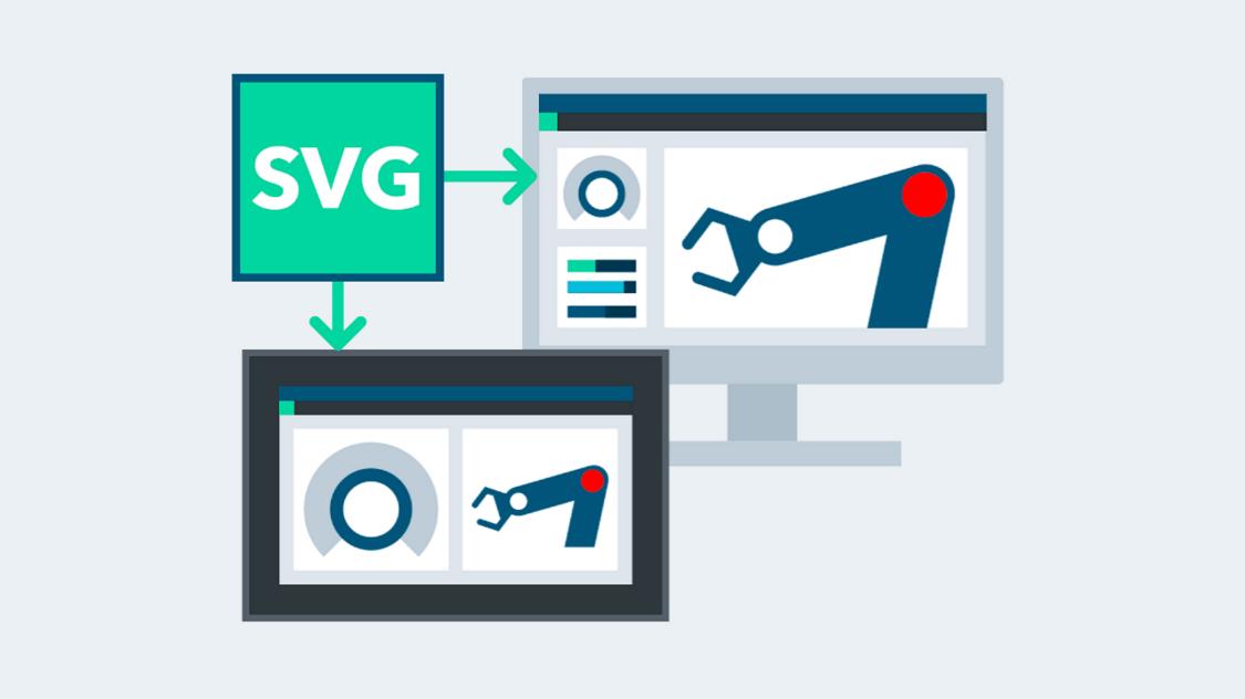 SIMATIC WinCC Unified nutzt SVG-Grafiken