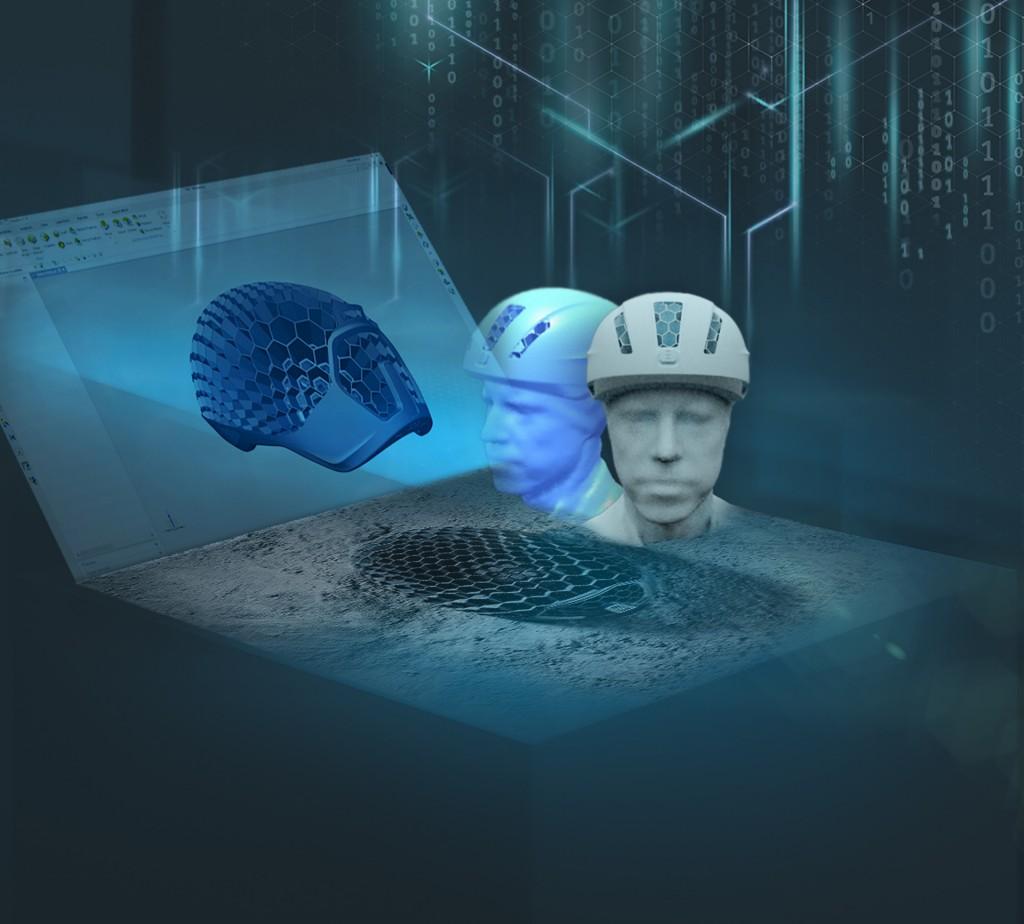 De industrialisatie van additive manufacturing maakt massaproductie van helmen op maat mogelijk