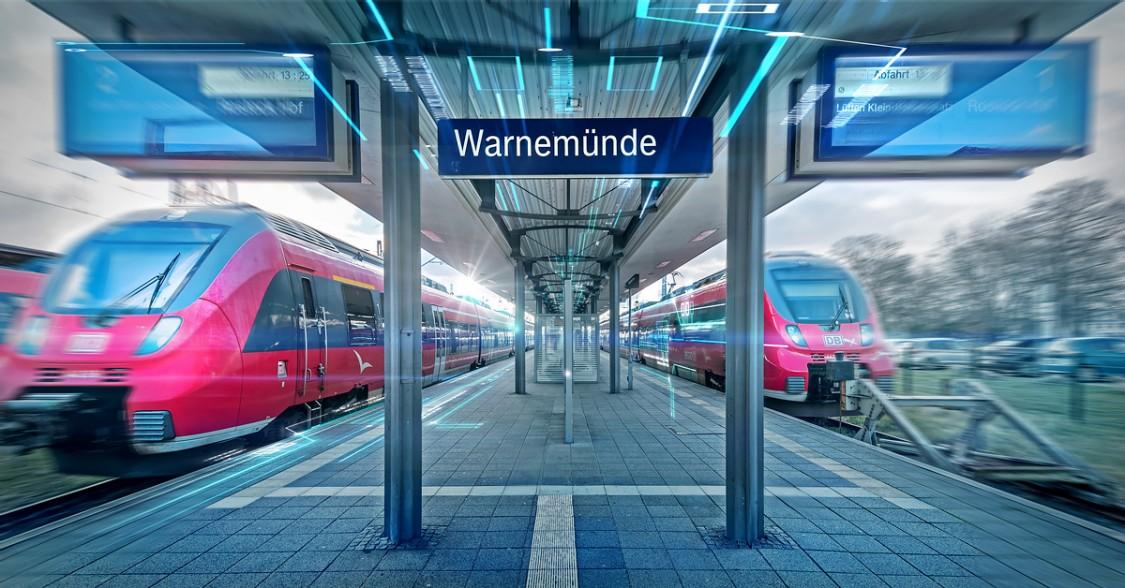 Platform in Warnemünde