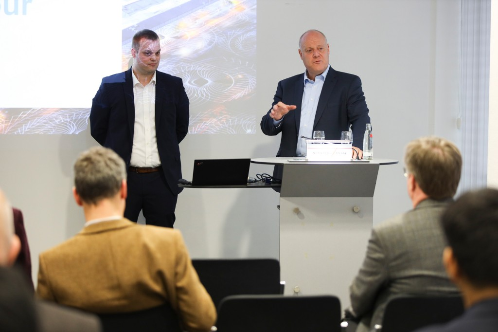 Eckard Eberle im Pressegespräch über Industrial 5G
